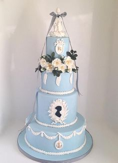 Fabulously Floral Cakes Wedding Cakes Spalding Lincolnshire | A Jane Austen Birthday Cake based on Mansfield Park