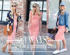 3 Ways To Style A Maternity Dress