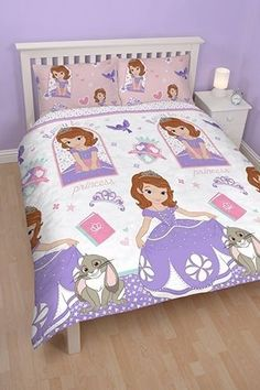Sofia The First Academy Girls DOUBLE SIZE Reversible Doona Quilt Cover Set NEW Auction Start Price .99 Cents