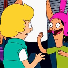 """""""I just want to slap his hideous beautiful face!"""" #bobsburgers #louise #gif"""