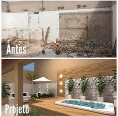 La imagen puede contener: planta e interior Small Pool, House Design, Pool Designs, Garden Design, Hotel Interior Design, Garden Deco, Diy House Renovations, Outdoor Living, Exterior Design