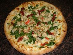 Anthony Russo's 2004 America's Plate Pizza was the grand winner in a pizza competition.    #pizza #recipe #shrimp #seafood