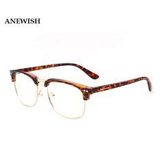 761b7aeaf ANEWISH 2017 Retro Glasses Women Clear Lens Glasses Women Men Leopard Print  Glasses Frames Oculos De Grau Femininos Gafas #33 #RetroMens