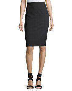 $177.0. LAFAYETTE 148 Skirt Modern Slim Wool-Blend Pencil Skirt #lafayette148 #skirt #pencilskirt #knit #wool #clothing Pencil Skirt Black, Gray Skirt, Cashmere Poncho, Lafayette 148, Plaid Skirts, Wool Blend, Dresses For Work, Slim, Clothes For Women