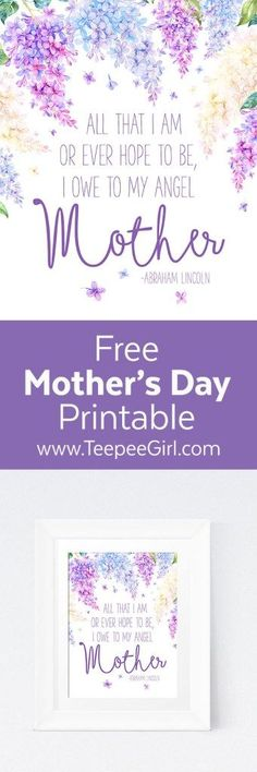 Free Mother's Day Printable Happy Mother Day Quotes, Mother Quotes, Mom Quotes, Happy Mothers Day, Famous Quotes, Mothers Day Decor, Diy Mothers Day Gifts, Mothers Day Brunch, Inexpensive Mother's Day Gifts
