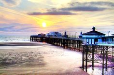Piers in Blackpool, England Blackpool Promenade, Blackpool Beach, Blackpool Pleasure Beach, Blackpool England, Preston Lancashire, British Seaside, Photography Challenge, Seaside Towns, Stunning View