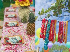 Hawaii themed party - probably more work than I will ever do for a party, but it looks cool!