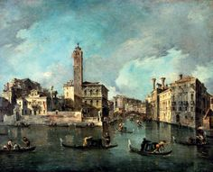 Francesco Guardi, The Grand Canal, Venice, at San Geremia