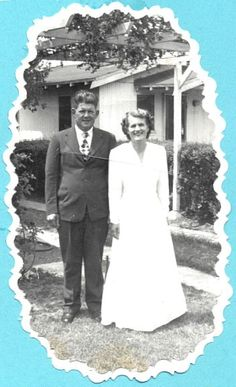 Donald Beacham and Ellen Gifford on their wedding day