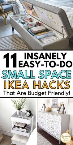 Furniture For Small Spaces, Ikea Small Spaces, Ikea Storage, Storage Hacks, Extra Storage, Storage Ideas, Ikea Hacks, Hacks Diy, Cleaning Hacks