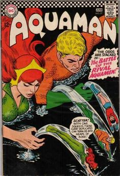 Aquaman 27 - Superman National Comics - Approved By The Comics Code - Superhero - Scatter - Water - Nick Cardy