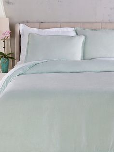 Evelyn Duvet Set by Surya at Gilt - light gray $289 (sky blue in  pic)