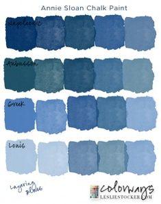 Greek blue chalk paint by Annie Sloan. Chalk Paint Colors Furniture, Annie Sloan Chalk Paint Colors, Blue Chalk Paint, Blue Paint Colors, Annie Sloan Paints, Colorful Furniture, Furniture Ideas, Annie Sloan Chalk Paint Aubusson Blue, Diy Blue Furniture