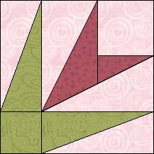 Block of Day for January 21, 2016 - Spring Iris-foundation piecing-The pattern may be downloaded until: Sunday, January 31, 2016.