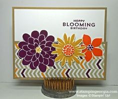 Fun Card Design using Flower Patch Photopolymer Bundle!