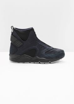 detailed look 4f312 e6fb5 Other Stories image 1 of Nike Air Huarache Run Mid PRM in Black Stil Och