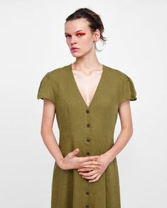 92a80e28b62 Image 2 of LONG LINEN DRESS from Zara