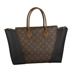 Chic and innovative, the W PM and its blend of Monogram canvas with exquisite Veau Cachemire calfskin leather exudes luxury. Its eye-catching shape and revolutionary design creates a truly unique tote bag.