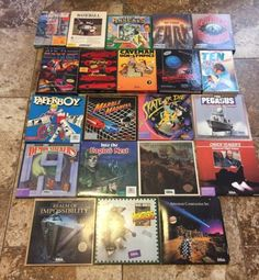 Huge-Lot-Of-21-Commodore-64-128-System-Games-RARE-Classic-Titles Eagles, Baseball Cards, Play, Classic, Derby, Eagle, Classic Books
