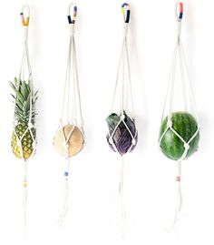 Colorblock Rope Plant Hangers - I want them all!