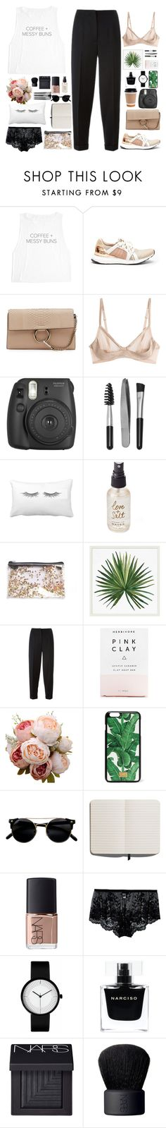 """""""Untitled #2828"""" by wtf-towear ❤ liked on Polyvore featuring adidas, Chloé, La Perla, Fujifilm, Sephora Collection, Olivine, Pottery Barn, Alexander McQueen, Herbivore and Dolce&Gabbana"""