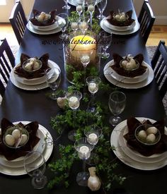 Spring Tablescape - Easter Dinner Centerpiece - Under the Table and Dreaming
