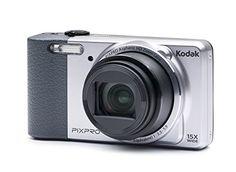 Kodak PixPro Friendly Zoom FZ151 Digital Camera, 16MP, 15x Optical/6x Digital Zoom, 3″ LCD Display, HD 720p Video, AV-OUT/USB 2.0, Silver