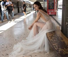 PRETTY & PERCHED  Turning heads in this magical sheer number by @lizmartinezbridal  xx . . . #wedding #weddingdress #weddinggown #sheerweddingdress #sheerdress #weddinginspo #bride #bridesmaids #weddingdaywhispers #empoweringcouples