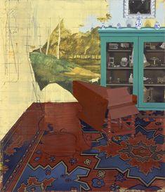 Cembalozimmer, Öl auf Leinwand, 122 x 104,5 cm, 2002