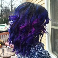 My galaxy inspired hair. Pravana: blue, violet, and wild orchid.