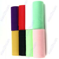 """Free Shipping New Tulle Roll Spool 6""""x25Y Tutu Wedding Gift Bow Craft Bridal Party Decorating $4,15"""
