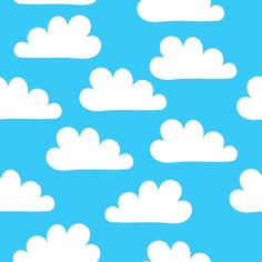 Happy Clouds custom fabric by carinaenvoldsenharris for sale on Spoonflower