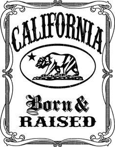 California Flag Bear - Born and Raised