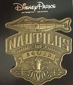 B rand NEW ON CARD is this 2016 Disney Trading Pin from the Disney Parks featuring The Squid and the Nautilus from Leagues Under the Sea. Disney Princess Tattoo, Punk Princess, Disney Trading Pins, Disney Pins, Nautilus Submarine, House Of M, Alternative Disney, Leagues Under The Sea, Disney Posters