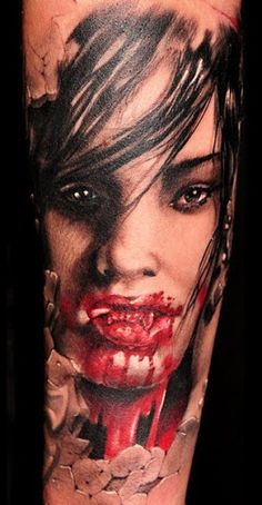 Realism Horror Tattoo by John Maxx