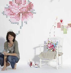 VM designblogg: Κέντημα Η Τοιχογραφία