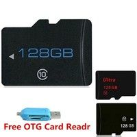 128GB Class10 Micro SD Memory Card +SD TF Transfer Adapter+ OTG Card Reader for Mobile/PC