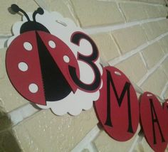 Shop for banner on Etsy, the place to express your creativity through the buying and selling of handmade and vintage goods. 1st Birthday Parties, Girl Birthday, Birthday Ideas, Party Party, Party Time, Party Ideas, Ladybug Party, Lady Bugs, Crafty Craft