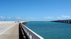 A stretch of Florida's Seven Mile Bridge, on the  Overseas Highway  (Photo: Ben Lawson/Flickr) http://yhoo.it/1paGOd1