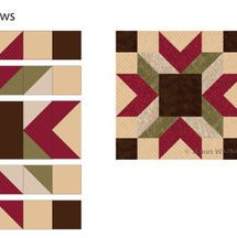 Follow my step by step instructions to sew 12-inch Merry Kite quilt blocks, a design that lets you create a 3D quilt.