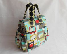 Insulated Lunch Bag PDF Pattern, Tote Bag Sewing Pattern, Lunch Bag Pattern with detailed instructions