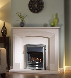 The Gallery Collection now at Direct Fireplaces. We have a huge range of Gallery fireplaces, including gas fires, surrounds, suites and packages, and much more at amazing. Limestone Fireplace, Gas Fireplace, Fireplaces, Fire Surround, Gas Fires, House Design, Gallery, Small Dining, House Interiors