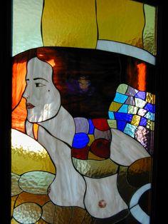 Giuditta di G.Klimt in vetrata Tiffany