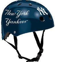 New York Yankees multi sport helmet Sports Merchandise, Sports Helmet, Ml B, New York Yankees, Helmets, Skateboarding, Bicycle Helmet, Cycling, Safety