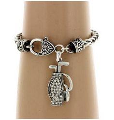Crystal Golf Bag Bracelet