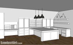 Room Studio Design Plan Craft Room Design Plan Go to to get the plans!Craft Room Design Plan Go to to get the plans!