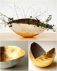Diy paper mache sculpture projects how to make 60 ideas Paper Mache Diy, Paper Mache Bowls, Paper Mache Projects, Paper Bowls, Paper Mache Sculpture, Sculpture Projects, Diy Paper, Paper Art, Paper Crafts