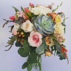 Fall weddings have great colors and textures! #bridalbouquet #fallwedding #texture #succulents #utahwedding #utahflorist