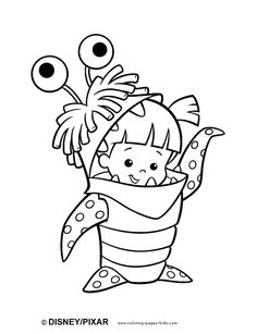 Monsters inc color page, disney coloring pages, color plate, coloring sheet,printable coloring picture