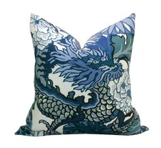 Pair of TWO Schumacher Chiang Mai Dragon pillow by sparkmodern, $180.00